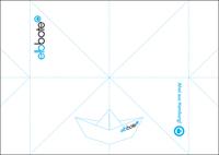 Postkarte Faltschiffchen