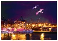 Postkarte Hafen