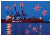 Postkarte Xmas Hamburg-Süd