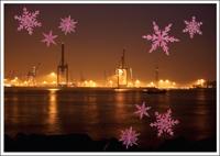Postkarte Xmas Goldener Hafen